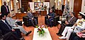 The Union Minister for Defence, Shri Manohar Parrikar calling on the Prime Minister of Mauritius, Sir Anerood Jugnauth, during his two day visit to the island nation, in Mauritius on December 10, 2016.jpg