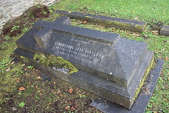 Lord Borthwick - The grave of Cunninghame, 19th Lord Borthwick, Dean Cemetery, Edinburgh