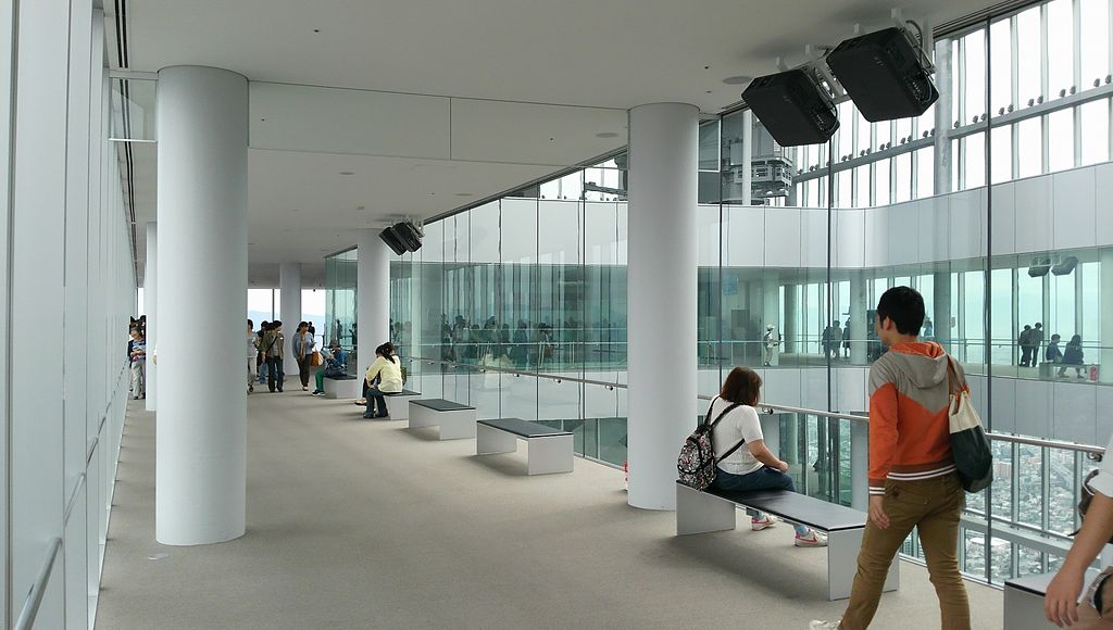 The interior of Abeno Harukas on the 60th floor