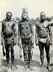 Picture of Igbo masked dancer from the early 20th century