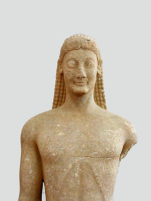 A Kouros, from the Archaic period. Archaeologi...