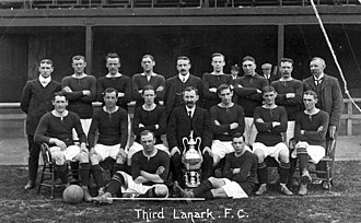 Third Lanark A.C. - The 1904 Third lanark team posing with the Glasgow Cup trophy