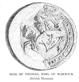 Thomas de Beauchamp, 12th Earl of Warwick - Seal of Thomas de Beauchamp, 12th Earl of Warwick