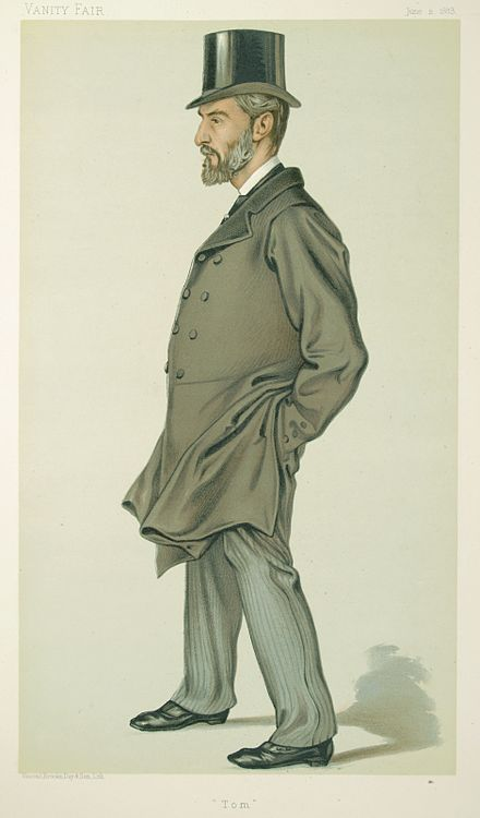 Caricature by VER published in Vanity Fair in 1883 Thomas Thornhill, Vanity Fair, 1883-06-02.jpg