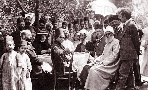 Thornton Chase (seated, second from right) among Baha'is in Egypt. Thornton Chase visit to Cairo 1907.jpg