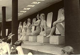 Tiger Balm Garden - Figures at Tiger Balm Garden Hong Kong in 1965