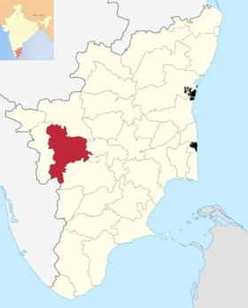 Localisation de District de Tiruppur