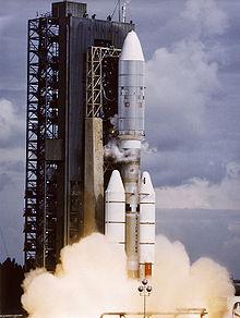 Запуск «Вояджера-2» на ракете-носителе Titan IIIE