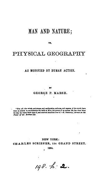 Man and Nature - Title page 1864 edition