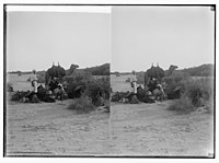 To Sinai via the Red Sea, Tor, and Wady Hebran. Preparing for a night's camp in Wady el-A'awaj. LOC matpc.01985.jpg