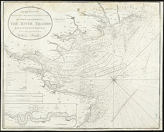 Thames Estuary - Naval chart of the estuary, 1801