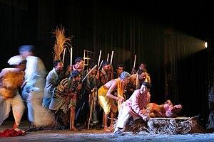 Bengali theatre - Play Tohar Gaon Bhi Ek Din staged by Sreejansena group