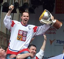 Tomas Rolinek, Czech ice hockey team 2010.jpg