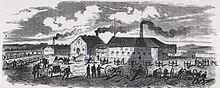 La fabbrica nel 1856