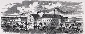 Kragujevac - The Kragujevac Cannon Foundry in its working days, originally built in 1856.