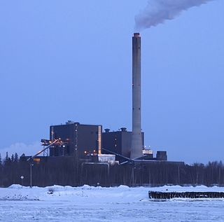 Toppila Power Station power plant in Oulu, Finland