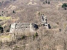 I ruderi del castello di Torriglia