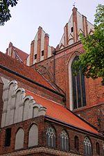 Toruń, Katedra św. św. Janów, ul. Żeglarska (fasada wschodnia) (OLA Z.)