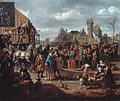 Townscape with a stage performance, by Matthijs Naiveu.jpg