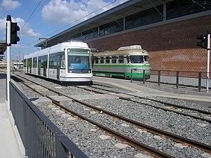 Škoda 06 T - Image: Tram Metrocagliari e A De Fd S Monserrato Gottardo