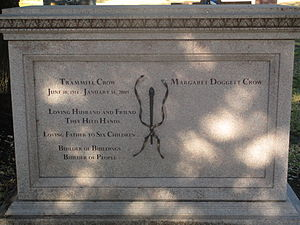 Trammell Crow - Crow grave marker at Texas State Cemetery in Austin, Texas