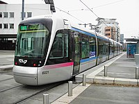 Tramway in Grenoble, France.