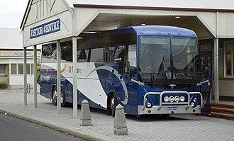 Transwa - Volgren bodied Scania K124EB coach at Albany in April 2006