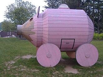 DeCordova Museum and Sculpture Park - Trojan Piggybank, 2004, by Aristotle Georgiades and Gail Simpson