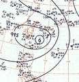 Tropical Storm Doris analysis 30 June 1961.png