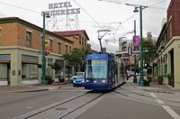 Tucson Sun Link streetcar at 5th & Congress (2014).jpg