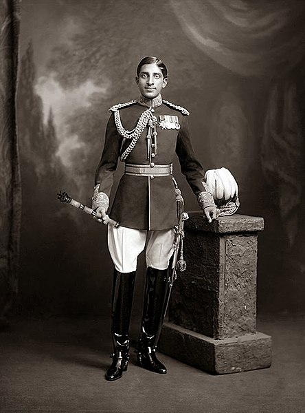 Tukojirao Holkar III, the Maharaja Holkar of Indore, wearing a British-styled dress uniform-Wikipedia