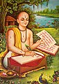 Tulsidas composing his famous Avadhi Ramcharitmanas.jpg