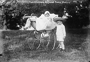 Louis Ferdinand, Prince of Prussia - Prince Louis Ferdinand, in the carriage, and his elder brother, Wilhelm.