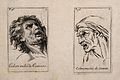 Two male faces expressing anger mingled with fear. Etching b Wellcome V0009400.jpg