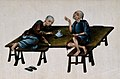 Two poor Chinese opium smokers. Gouache painting on rice-pap Wellcome V0019165.jpg