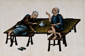 First Opium War - Chinese opium smokers