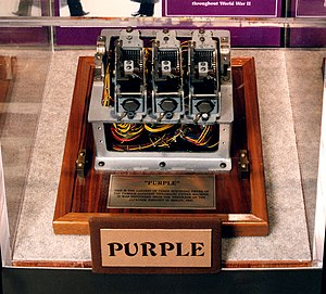 "Type B Cipher Machine - Fragment of a Type 97 ""Purple"" cipher machine obtained by the United States Army from the Japanese embassy in Berlin at the end of World War II."