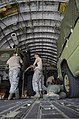 U.S. Airmen with the 36th Contingency Response Group secure vehicles into a C-17 Globemaster III aircraft on the flight line at Andersen Air Force Base, Guam, Nov. 15, 2013, before departing to support Operation 131115-F-NA975-103.jpg