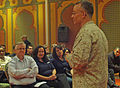 U.S. Marine Corps Col. Roger Garay, the task force commander for African Lion 2012 and commanding officer of the 14th Marine Regiment, addresses members of the Executive Leadership Development Program (ELDP) 120412-A-XJ577-063.jpg