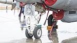 U.S. Marine Corps EA-6B Prowler(163046) of VMAQ-2 nose landing gear left front view at MCAS Iwakuni May 3, 2015.jpg