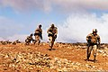 U.S. Marines with 1st Battalion, 2nd Marine Regiment, Battalion Landing Team, 24th Marine Expeditionary Unit assault an objective during a rehearsal for the final exercise for exercise African Lion 2012 120416-M-IX060-002.jpg