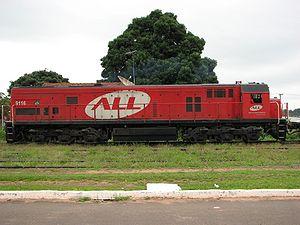 ALL 9116, GE U26C Pompéia-SP-Brasil