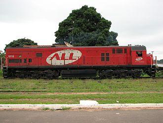 GE U26C - No. 9116 of the Brazilian ALL
