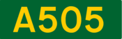 A505 road shield