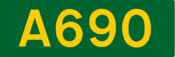 A690 road shield