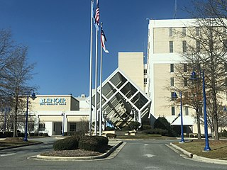 UNC Lenoir Health Care Hospital in Eastern North Carolina, United States