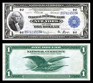 Federal Reserve Bank Note - Image: US $1 FRBN 1918 Fr.713