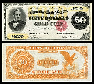 Silas Wright - Wright depicted on the 1882 $50 Gold certificate.