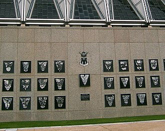 United States Air Force Academy - The Class Wall is located just below the Cadet Chapel