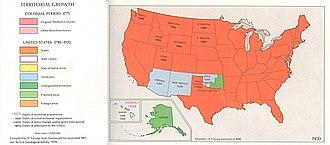 Unorganized territory - Unorganized territories (dark green) in 1900.